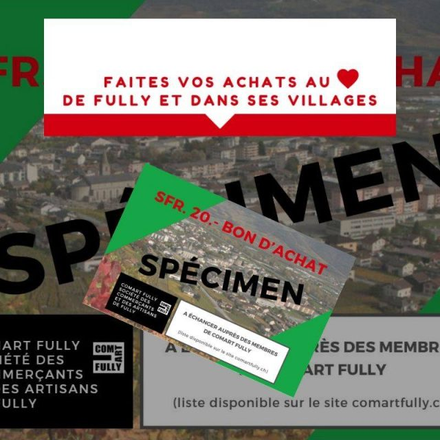 Solidaire du commerce local sur Fully