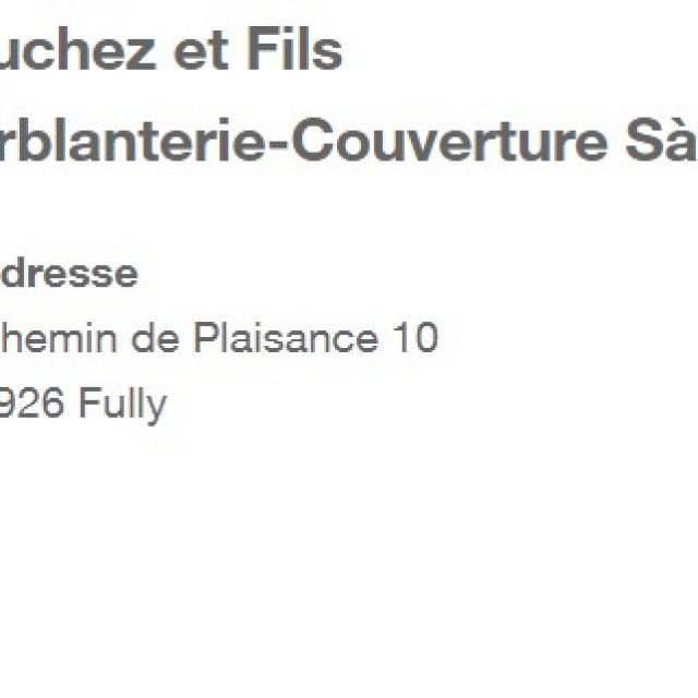 Bruchez et Fils  Ferblanterie-Couverture Sàrl